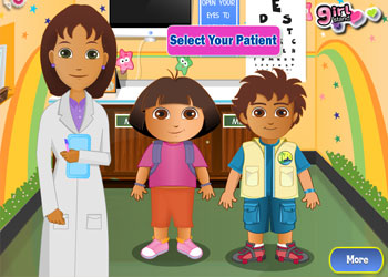 Play Dora And Diego At The Eye Clinic online - Screenshot 1
