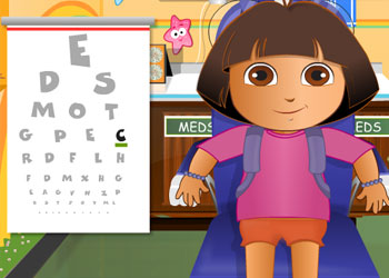 Play Dora And Diego At The Eye Clinic online - Screenshot 2