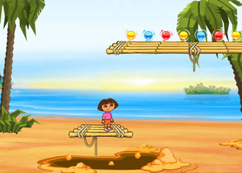 Play Dora and Diego beach treasure online - Screenshot 1