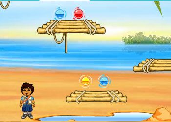 Play Dora and Diego beach treasure online - Screenshot 2