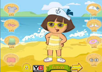 Play Dora Beach Dress Up online - Screenshot 1
