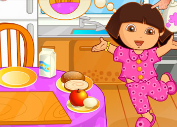 Play Dora Breakfast online - Screenshot 1