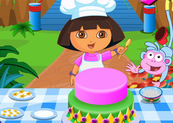 Play Dora Cake online - Screenshot 2