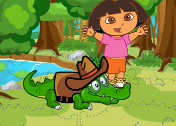 Play Dora Care Baby Crocodile online - Screenshot 2