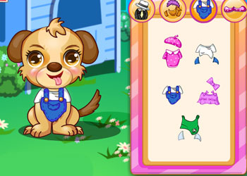 Play Dora Cute Puppy Caring online - Screenshot 2