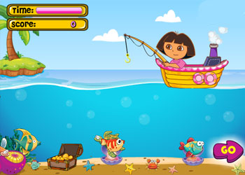 Play Dora Fishing online - Screenshot 1