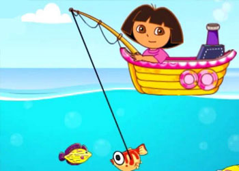 Play Dora Fishing online - Screenshot 2