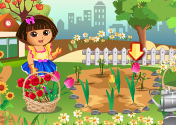 Play Dora Loves Flowers online - Screenshot 1