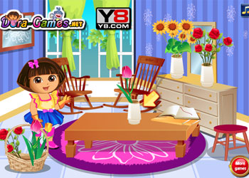 Play Dora Loves Flowers online - Screenshot 2