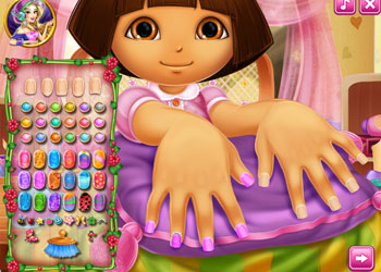 Play Dora Nails Spa online - Screenshot 2