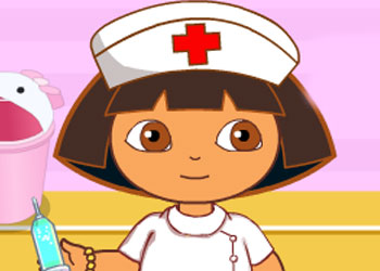 Play Dora Nurse Injection online - Screenshot 1