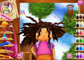 Play Dora Real Haircuts online - Screenshot 2