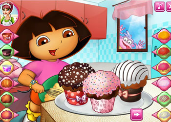 Play Dora Tasty Cupcakes online - Screenshot 1