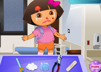 Play Dora the Explorer at the Doctor online - Screenshot 1