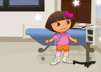 Play Dora the Explorer at the Doctor online - Screenshot 2