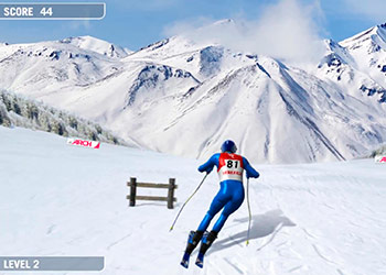 Play Downhill Ski online - Screenshot 1