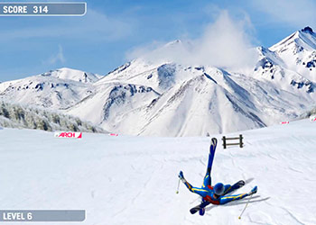 Play Downhill Ski online - Screenshot 2