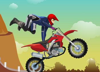 Play Downhill Stunts online - Screenshot 1
