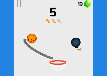 Play Dunk Line online - Screenshot 1