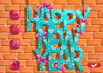 Play Ellie New Year Room Deco online - Screenshot 1