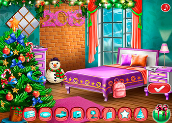 Play Ellie New Year Room Deco online - Screenshot 2