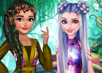 Play Elsa And Moana Fantasy Hairstyles online - Screenshot 2