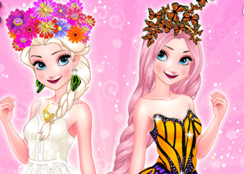Play Elsa Butterfly Queen online - Screenshot 1