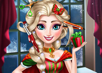 Play Elsa Christmas Real Haircuts online - Screenshot 1