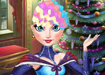 Play Elsa Christmas Real Haircuts online - Screenshot 2