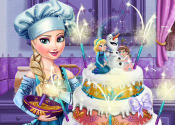 Play Elsa Frozen Wedding Cake online - Screenshot 1