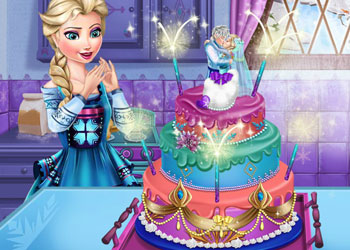 Play Elsa Frozen Wedding Cake online - Screenshot 2