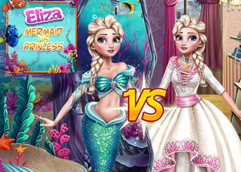 Play Elsa Mermaid Vs Princess online - Screenshot 1