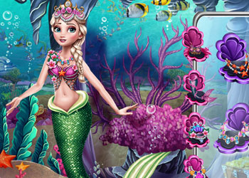 Play Elsa Mermaid Vs Princess online - Screenshot 2