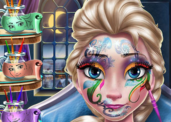 Play Elsa New Year Make Up online - Screenshot 2