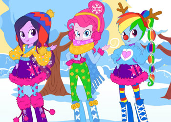 Play Equestria Girls Winter Fashion 2 online - Screenshot 2