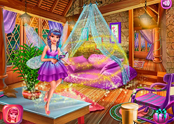 Play Fairy House Cleaning online - Screenshot 2
