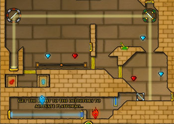 Play Fireboy and Watergirl: The Light Temple online - Screenshot 2