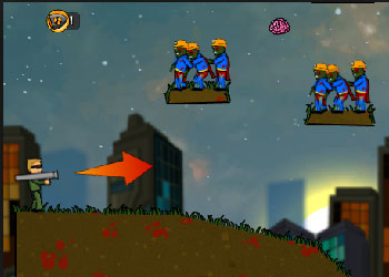 Play Flaming Zombooka 2 online - Screenshot 2