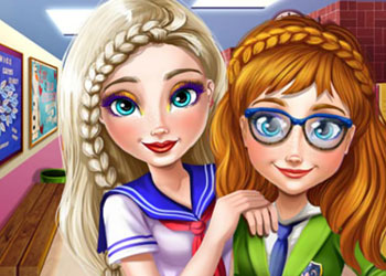 Play Frozen College Real Makeover online - Screenshot 2