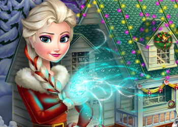 Play Frozen X-mas House Makeover online - Screenshot 1