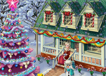 Play Frozen X-mas House Makeover online - Screenshot 2