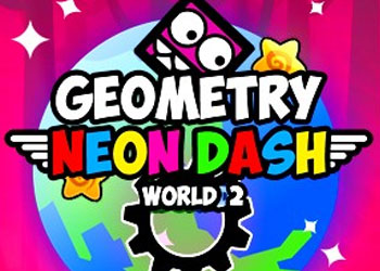 Play Geometry Neon Dash World 2 online - Screenshot 1