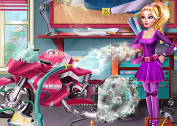 Play Girls Fix It: Barbie Spy Motorcycle online - Screenshot 2