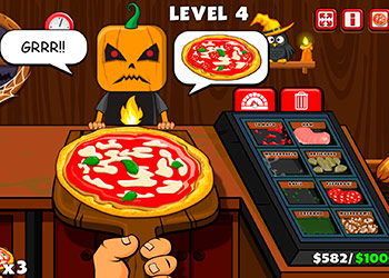 Play Halloween Pizzeria online - Screenshot 2