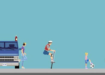 Play Happy Wheels online - Screenshot 2