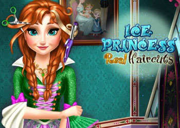 Play Ice Princess Real Haircuts online - Screenshot 1