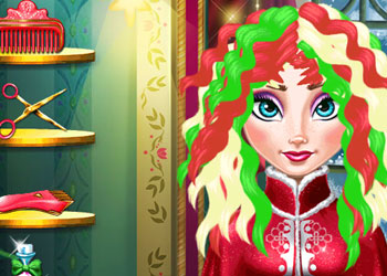 Play Ice Queen: Christmas Real Haircuts online - Screenshot 2