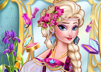 Play Ice Queen Elsa Art Deco Couture online - Screenshot 1