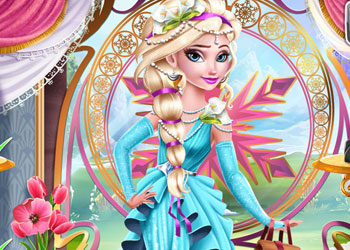 Play Ice Queen Elsa Art Deco Couture online - Screenshot 2