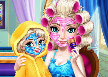 Play Ice Queen Mommy Real Makeover online - Screenshot 1